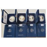 4 ct. American Eagle 1oz Silver Proof Coins