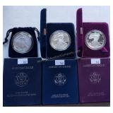 3 ct. 1 oz. Silver Uncirculated & Bullion Coins