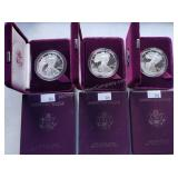 3 ct. 1 oz. American Eagle Silver Proof Coins