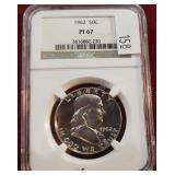 1962 Franklin 50 Cent Silver PCGS PF67 NGC