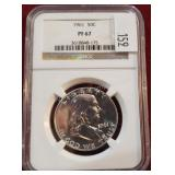 1961 Silver Franklin 50 Cent Coin NGC PF67