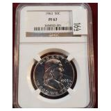 1963 Franklin Silver Coin NGC PF67