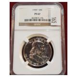 1959 Franklin Silver 50 Cent Coin NGC PF67