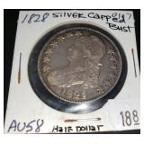 1828 Silver Capped Bust Half Dollar Coin