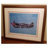 Flying Tiger P-40E Warhawk Framed Photograph