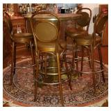 Oak with Title High Top Tavern Table & Chairs