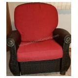 Beautiful Wicker Cushioned Side Chair