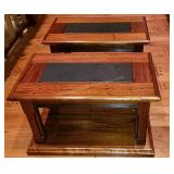 Pair of Extraordinary Imported Wood Side Tables