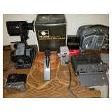 Group of Vintage Projectors and Cameras