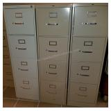 Trio of HON Metal File Cabinets