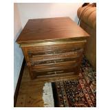 Beautiful 3-Drawer Oak End Table