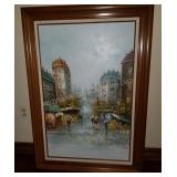 Street View of Paris High Quality Acrylic Painting