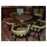 Beautiful Poker Gaming Table and Chairs