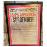 1945 Detroit Times WWII Japs Surrender Paper!