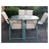 Oval Patio Table and Chairs