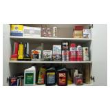 Group Lot of Solvents and Garage Related Goods
