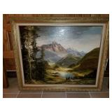 HIgh Quality German Oil on Canvas Painting