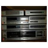 Vintage Sony Audio Equipment with Speakers