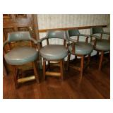 Group of 4 High Top Sage Chairs