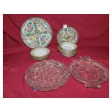 ASSORTED ORIENTAL DESIGN PLATES AND BOWLS,