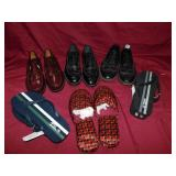 FOUR PAIRS MENS SHOES, FLIP FLOPS, VINTAGE