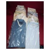 GROUP OF MENS DRESS SHIRTS 10 TOTAL VAN HEUSEN,