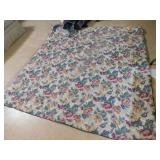 QUEEN SIZE BLANKET REVERSIBLE, BED SKIRT, FLAT