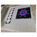 "FULL/QUEEN BLANKET, WALL HANGING STAR 36"" X 37"","