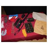 UMBRELLAS IN CARRYING CASES, RIBBON NECKLACES,