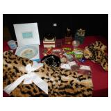 NEW LEOPARD BLANKET AND MATCHING TEDDY BEAR-VERY