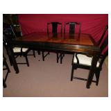HENDRON DINNING ROOM TABLE VERY CLEAN WITH 6