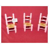 45+ RUSH SEATED CHAIR ORNAMENTS 5 IN H
