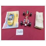 RACER CAR, CHERRIOS CAR AND PLASTIC MODEL CAR