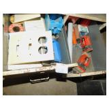 ELECTRICAL SUPPLIES IN METAL FILE BOX, ETC