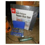 ANTI FATIGUE MATS, GREASE GUN, BOLTS