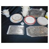 WENDELL AUGUST TRAYS, MEAT THERO. PLATES, MUGS