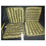 4 SATIN FINISH TIE ON CUSHIONS GREEN