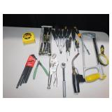 ASSORTED TITAN TOOLS SCREWDRIVERS, TAPE MEASURE