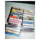 CASSETTES, BOX FULL, MEATLOAF, JUDY GARLAND,