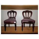 TWO REPRODUCTION DOLL CHAIRS VICTORIAN STYLE