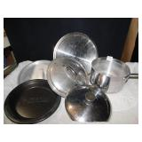 ALL-CLAD USED SAUCE POT - WITH NON-MATCHING BUT