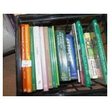 COLLECTABLE BOOKS IN TOTE AND PERENNIALS, PLANTS,