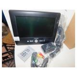 "AXION TV W/ REMOTE 9"" NEW W/ ANTENNA ETC."