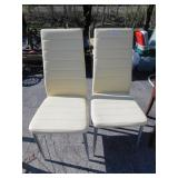 TWO RETRO STYLE MODERN CHAIRS