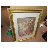 "FRAMED FLOWER PRINT 33"" H X 27"" W"
