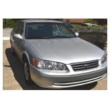 2001 SILVER TOYOTA CAMRY LE V6 WITH 17,297 MILES