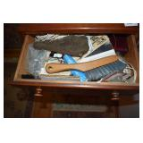 SEWING ITEMS IN CABINET