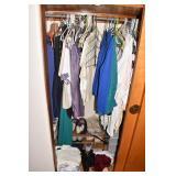 CLOSET OF CLOTHES, TOPS, ETC.