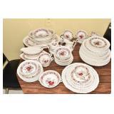 WEDGWOOD CORNFLOWER DESIGN 7 DINNER PLATES, 1