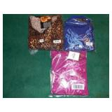 2X IMAN LEOPARD PANTS SET WITH NECKLACE, AND TWO